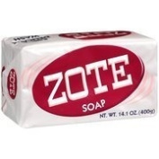 Zote Pink Laundry Bar Soap With Soap Grater