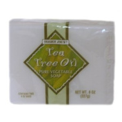Tea Tree Oil Pure Vegetable Soap (2 120ml Bars) - No Animal By-Products - Cruelty Free - Not Tested On Animals