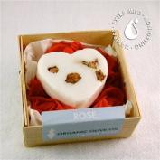Brigit True Organics- Rose Heart with rose petals Castile Soap, 40ml