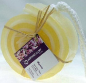 Handmade Magnolia Swiss Roll Soap on a Rope
