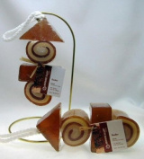Handmade Rooibos Kebab Shaped Soap on a Rope
