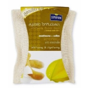 Supaporn Whitening Scrub Spa Soap with Tamarind Extract + Star Fruit Extract Whitening and Lightening 70ml