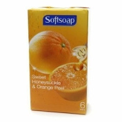 Softsoap Bar Soap, Sweet Honeysuckle & Orange Peel, 6 ea