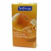 Softsoap Bar Soap, Sweet Honeysuckle & Orange Peel, 6 ea
