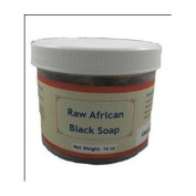 0.45kg of Raw African Black Soap ALREADY CUT in Chunks Sealed in a JAR By HalalEveryDay