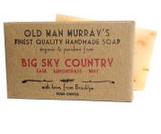 Big Sky Country (2 Bars) Sage, Lemongrass, Mint Organic Soap