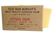 Citrus Herb (2 Bars) Lemongrass, Rosemary, Lime Organic Soap