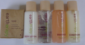 Eartherapy Travel set Shampoo, Conditioner, Lotion, Bath Gel,and soap