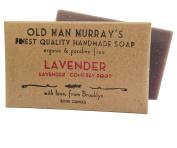 Lavender w/ Comfrey Root (2 Bars) Organic Soap