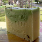 Organic Soap Sea Kelp / Moss with Chamomile Herb and Cocoa Butter