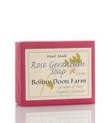 Rose Geranium Soap Bar 160ml by Bonny Doon Farm
