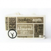 BambuEarth 130ml Handmade Soap Bars in Plantable Packaging - ALMOND LEMON