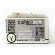 BambuEarth 130ml Handmade Soap Bars in Plantable Packaging - LAVENDER OATMEAL