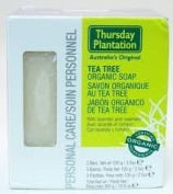 Thursday Plantation Tea Tree Organic Soap, 3 Bars Net wt 100g /100ml E
