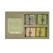 Fringe Soap Set Lemon Verbena Scent w/ Glass Tray SKU-PAS924701