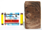 Black Amber - Face and Body Soap - 100% Virgin Olive Oil / 2 Bars - 120ml (113g) Each