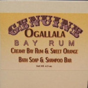 Two (2) Genuine Ogallala Bay Rum, Bay Rum & Sweet Orange Bath Soap/Shampoo Bar- 130ml each