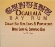 Two (2) Genuine Ogallala Bay Rum, Limes & Peppercorns Bath Soap/Shampoo Bar- 130ml each