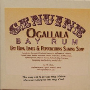 Two (2) of Genuine Ogallala Bay Rum, Bay Rum-Limes & Peppercorns Shaving Soap - Each Puck 130ml