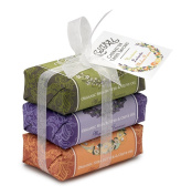 Mistral Soap Pack with a Bow, 3 - 100 g paper wrapped soaps