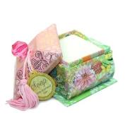 Punch Studio Crystal Pagoda Green Tea Soap Box - Bright Bloom Pink 50025