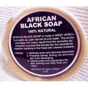 PACK OF TWO African Black Soap 100% Natural 8 0z. Product Of West Africa