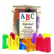 Alphabet Handcrafted Glycerin Kids Soap, Made in USA