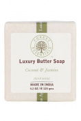 Forest Essentials Luxury Butter Soap Coconut & Jasmine - 125g