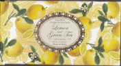 Saponificio Artigianale Fiorentino Soap Made in Italy - Lemon and Green Tea, Three 130ml bars