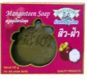 Mangosteen Soap Natural Herbal Size 100 G. Made in Thailand