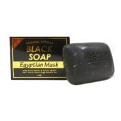 Original African Black Soap w/ Shea Butter & Cocoa Butter, Egyptian Musk 150ml - 6 Pack