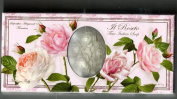 Saponificio Artigianale Fiorentino Soap Made in Italy - A Roseto 'Rose', Three Highly Decorative Carved Bars - 130ml each bar