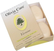 Olivia Care Hard Top Gift Box of 4 Soaps, Verbena, 590ml Boxes