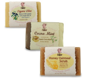 I-Wen Honey Oatmeal, Cocoa Mint & Organic Olive handmade soap set
