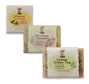 I-Wen Lemon Green Tea, Rosemary Lavender & Almond Facial Bar handmade soap set