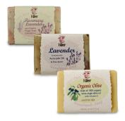 I-Wen Organic Olive, Lavender & Rosemary Lavender handmade soap set