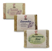I-Wen Rosemary Mint, Lavender & Rosemary Lavender handmade soap set