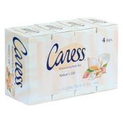 Caress Nature's Silk Moisturising Body Bar with Natural Moisturisers, Daily Silkening , 4 - 130ml (120 g) bars [17 oz (1 lb 30ml) 480g]