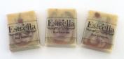 Handmade Natural Vegan Soap 3 Bars Rose Geranium