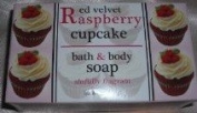 Red Velvet Raspberry Cupcake Bar Soap