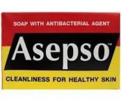 Asepso Antiseptic Soap Antibacterial Agent Healthy Skin Product of Thailand