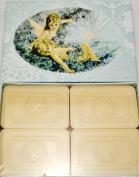Saponificio Artigianale Fiorentino Blue Lavender 4 X 130ml Soap Set From Italy