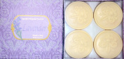 Saponificio Artigianale Fiorentino Lavender 4 X 130ml Round Soap Set From Italy