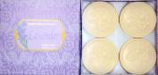 Saponificio Artigianale Fiorentino Lavender 4 X 130ml Round Soap Set From Italy
