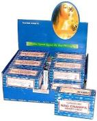 Nag Champa Natural Soap - Box of 12 Regular 75 Gramme (2.5 Ounce) Bars - Satya Sai Baba
