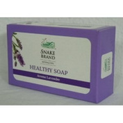 Snake Brand Natural Cool Healthy Soap Aroma Lavender 100g. - Pack 3