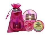Hawaiian Bubble Shack Loofah Soap & Monkeypod Candle Gift Set Sweet Plumeria