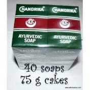 40 Chandrika Ayurvedic Soap Bars - Original Package - low shipping
