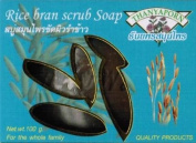 Rice Bran Scrub Soap : 6 Pieces