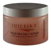 Dead Sea Salt Scrub with Argan & Aromatic Oils -Pomegranate Scent (15.5 fl.oz.-450ml) by Juiceika